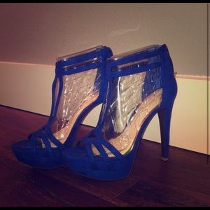 NWOT Jessica Simpson cobalt blue platform heels